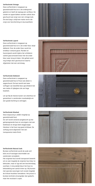 Winkel kasten van zukini for Kast verven welke kleur